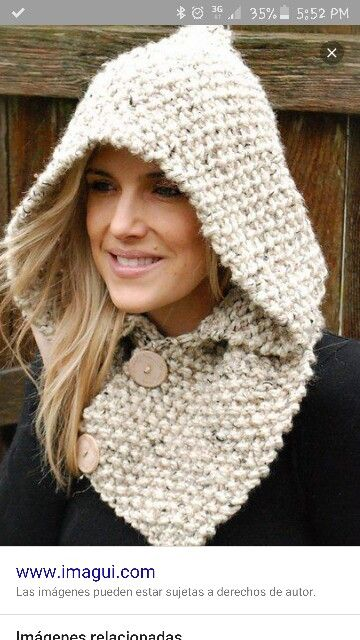 Gorro Con Cuello Super In Winter Kudumine Pinterest Knitting