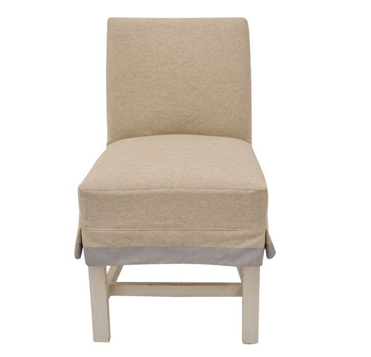quatrine furniture. Quatrine Furniture - Low Back Slipcovered Dining Chair With Ribbon Trim