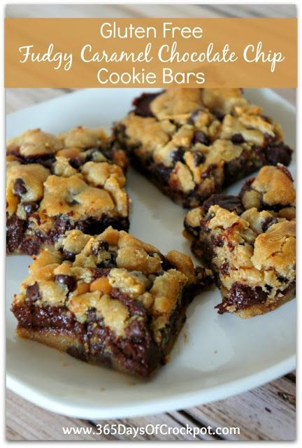 Recipe for Gluten Free Fudgy-Caramel Cookie Bars – 365 Days of Slow Cooking and Pressure Cooking