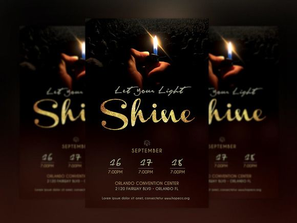 Shine Church Flyer Poster Photoshop Churches, Photoshop and Flyer