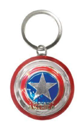 Marvel Captain Logo Pewter Key Ring