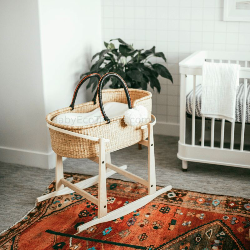 Plum And Sparrow Bassinet Rocking Stand Usa Made Baby Basket