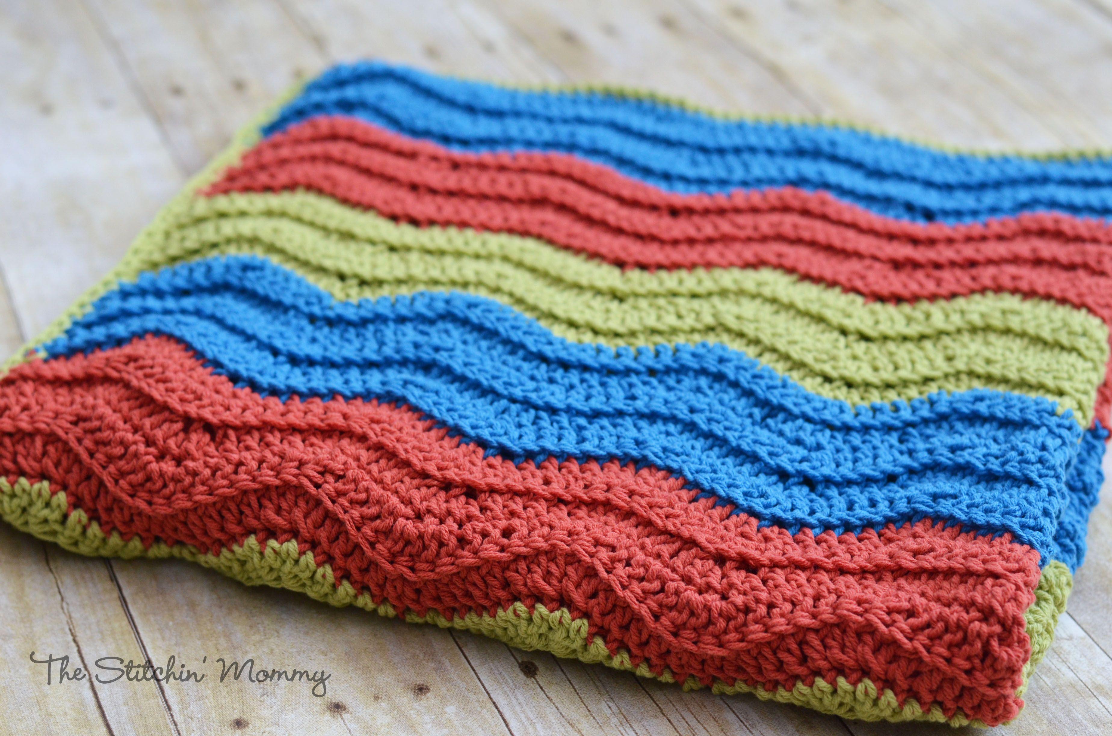 Amigurumi Vivi Free Patterns : Shell stitch baby blanket free pattern crochet ripple blanket