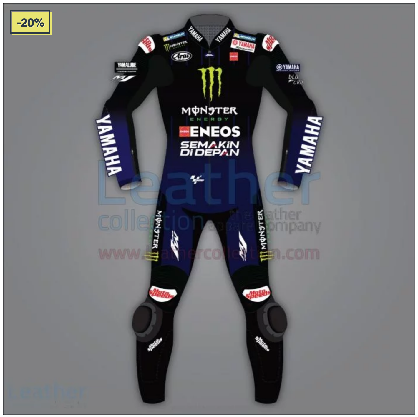 Maverick Vinales Yamaha Monster Racing Suit Motogp 2020 Di 2020