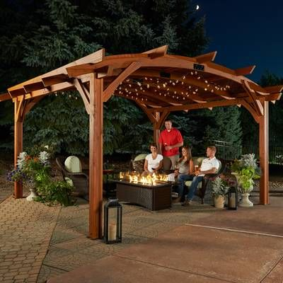 Sonoma 16 Ft W X 16 Ft D Solid Wood Pergola Outdoor Pergola Pergola Patio Wood Pergola