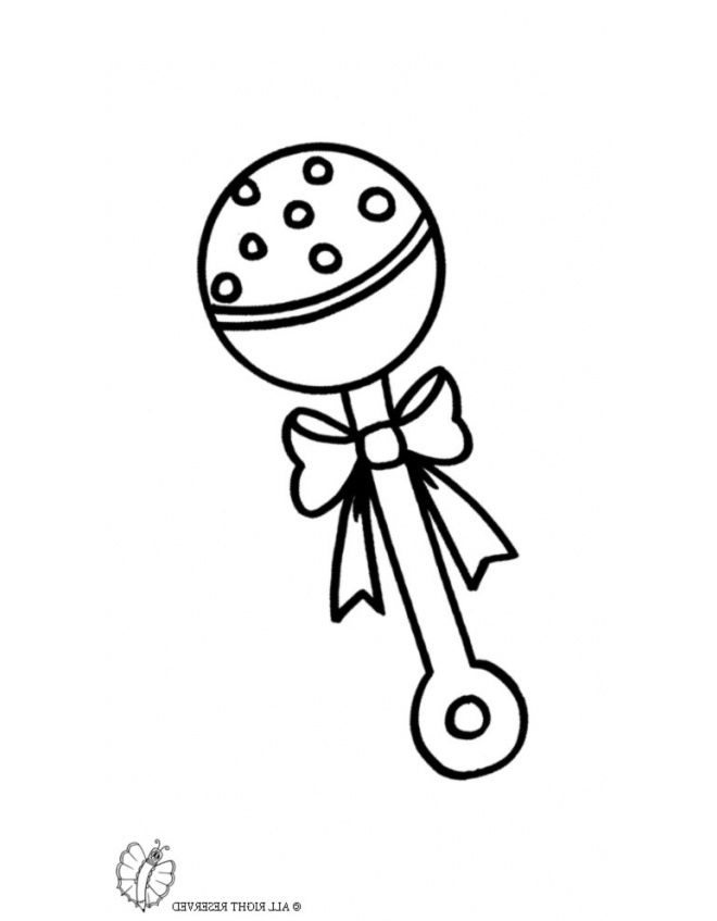 30 Awesome Gallery Of Baby Rattle Coloring Page