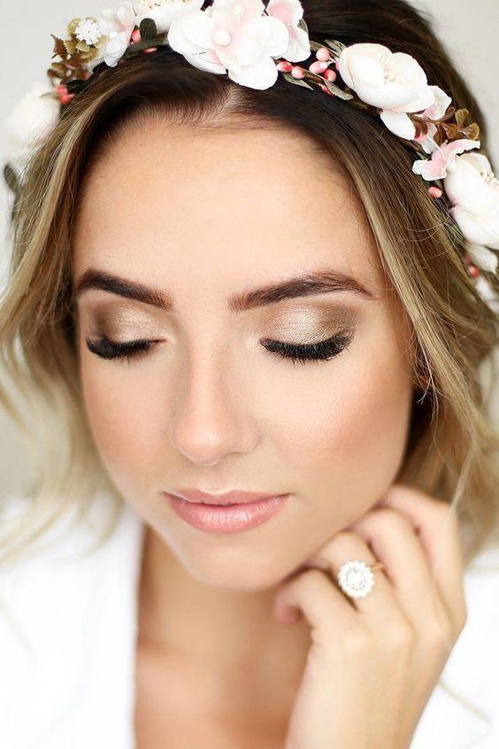 Photo of Bride Makeup Ideas; wedding makeup for brown eyes; blue eyes; wedding makeup for…, #blue #B…