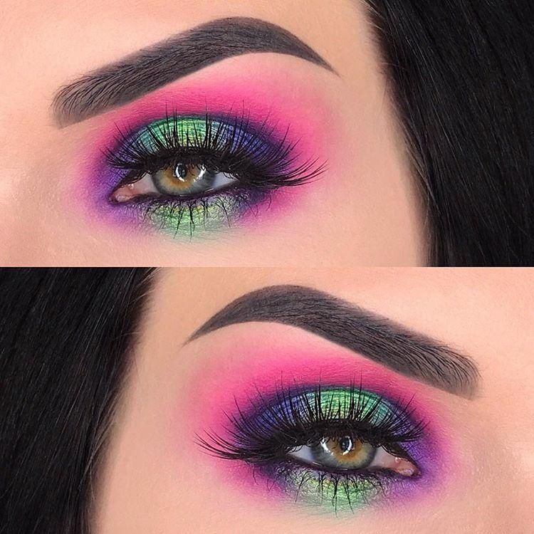 Maquillaje neon Mua Junio Pinterest Maquillaje, Neón y Ojos