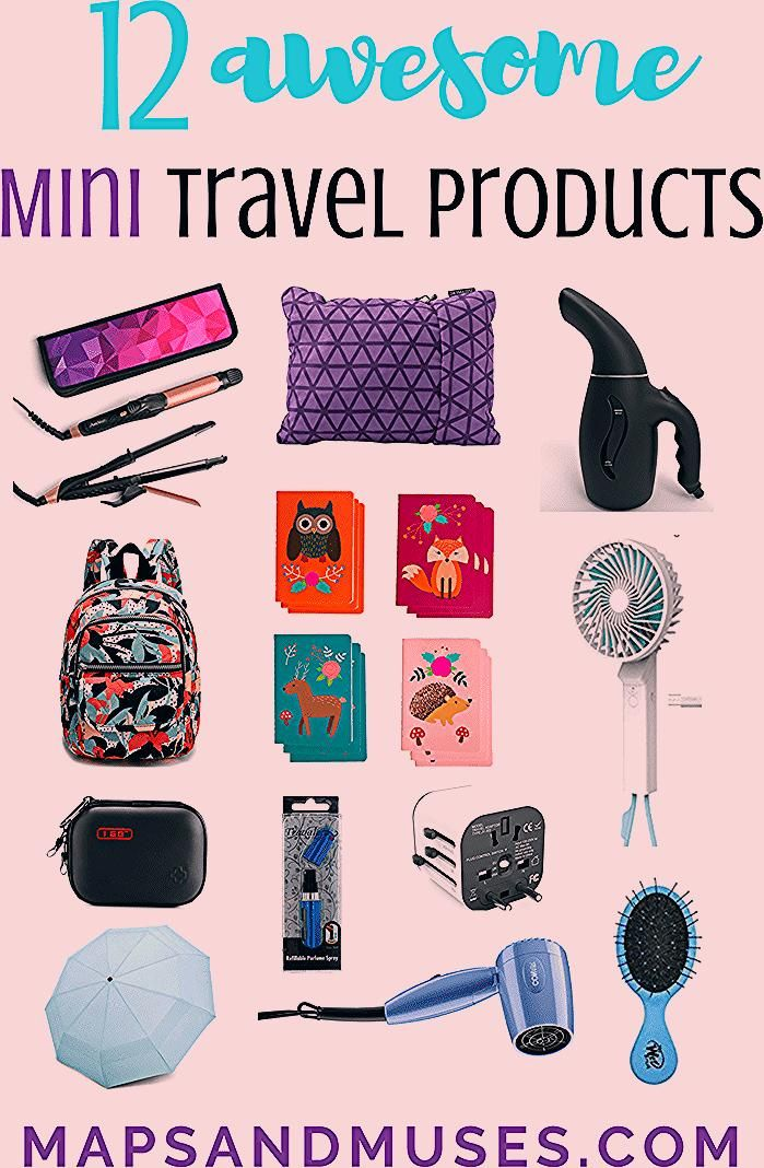12 Awesome Mini Travel Products to Bring on Your Next Trip