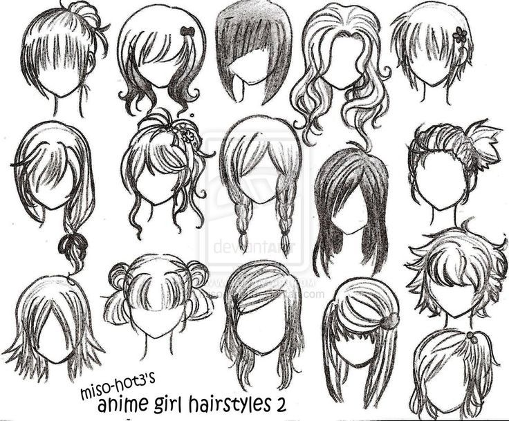 result anime girls hair