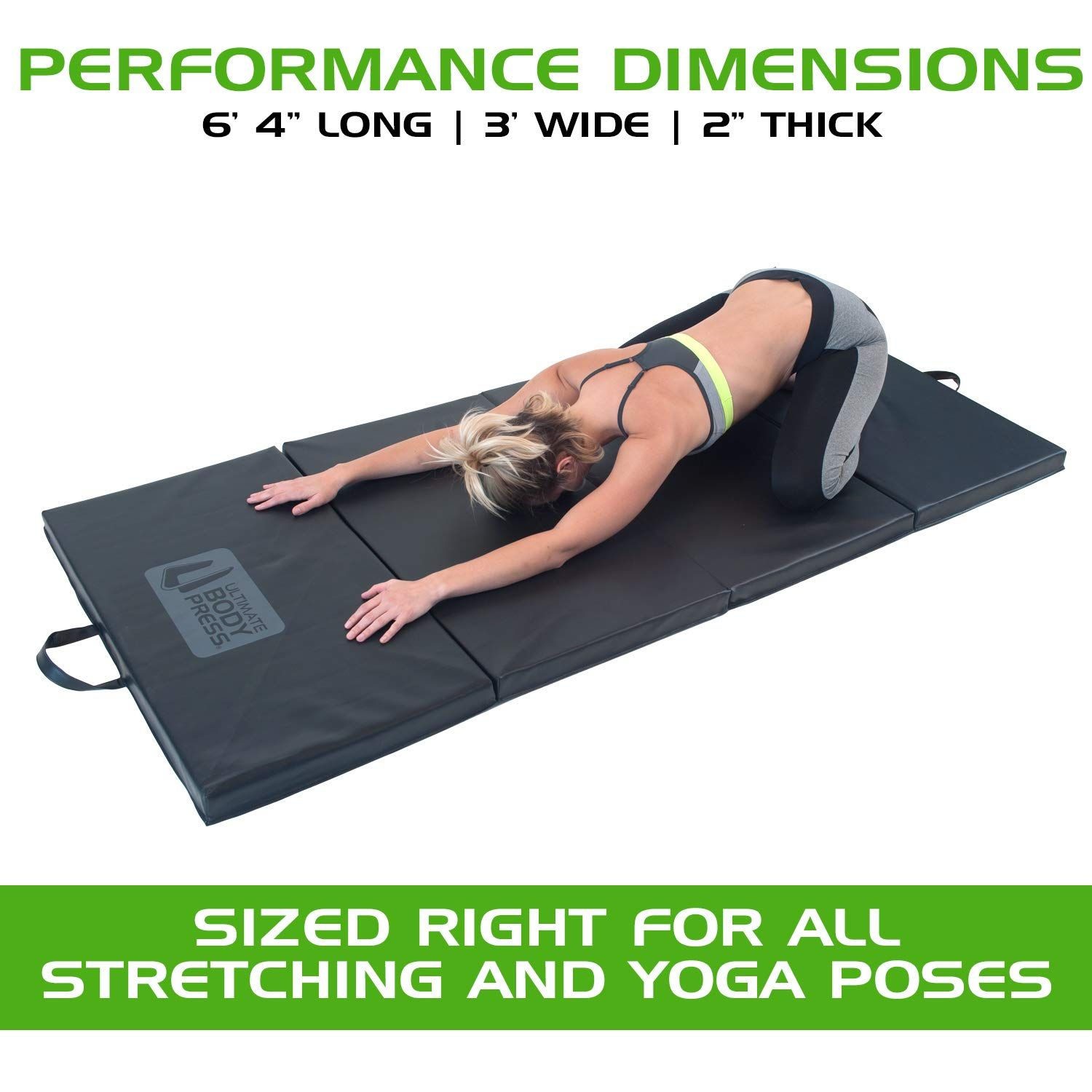 Ultimate Body Press Exercise And Yoga Mat 6 4 X 3 X 2 Four Panel Folding Mat With Premium Materials And Foam You Can Get Mo Yoga Block Yoga Exercise