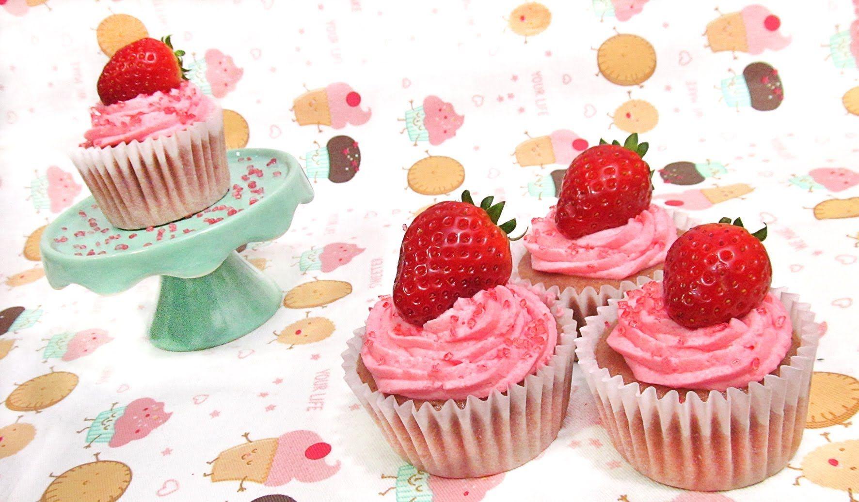Cupcakes de Fresa | repostería | Pinterest | Cupcakes de fresa ...