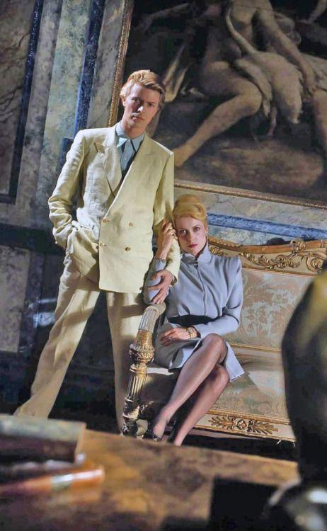secretempires:  David Bowie and Catherine Deneuve on the set of...