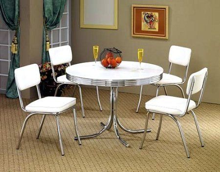 Download Wallpaper White Retro Kitchen Set