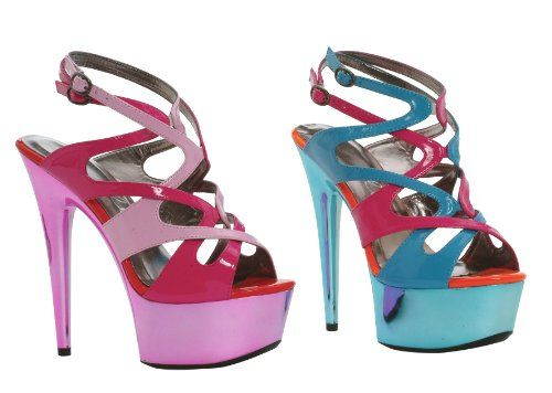 Ellie Shoes E609Guava 6 Metallic Platform with Color Blocking Pink 11 <3 Find out more by clicking the VISIT button