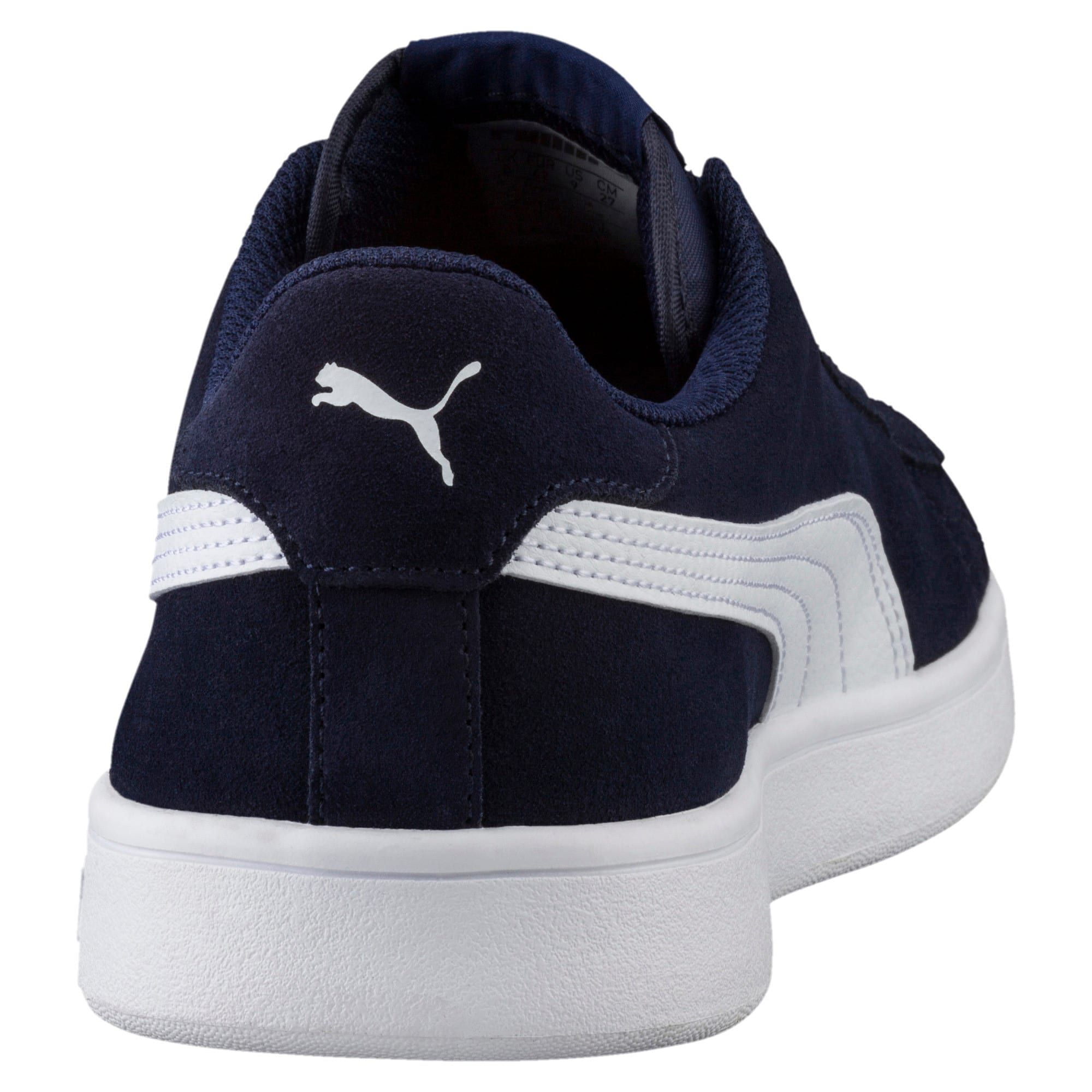 PUMA Chaussure Basket Smash v2, BleuBlanc, Taille 37.5