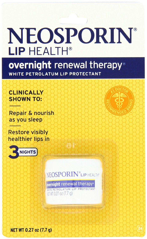 Neosporin lip health overnight renewal therapy 027ounce