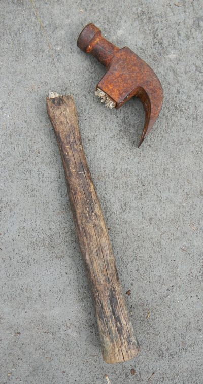 Hammer With Wooden Handle