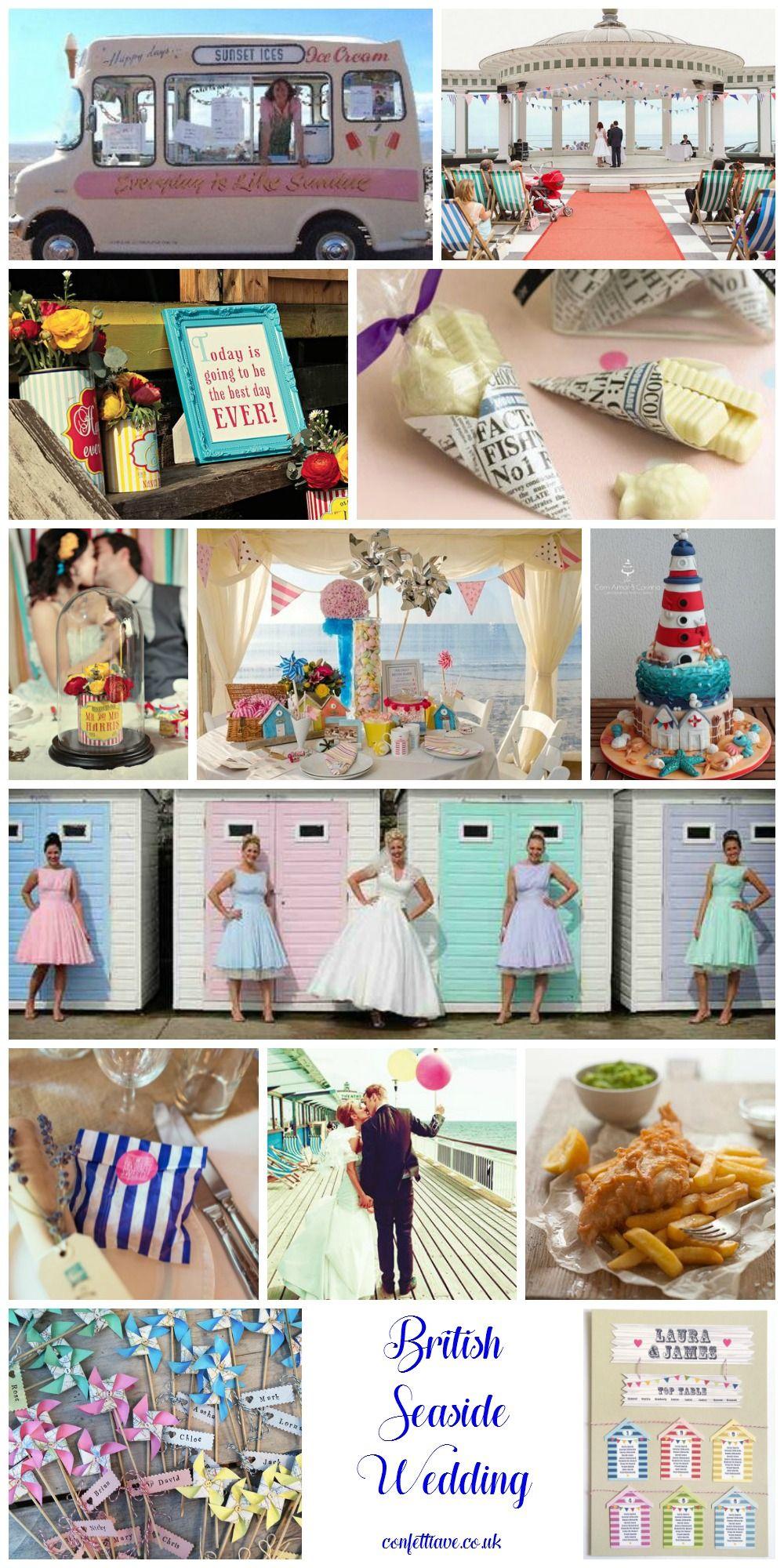 British Seaside Wedding Mood Board Httpconfettiave