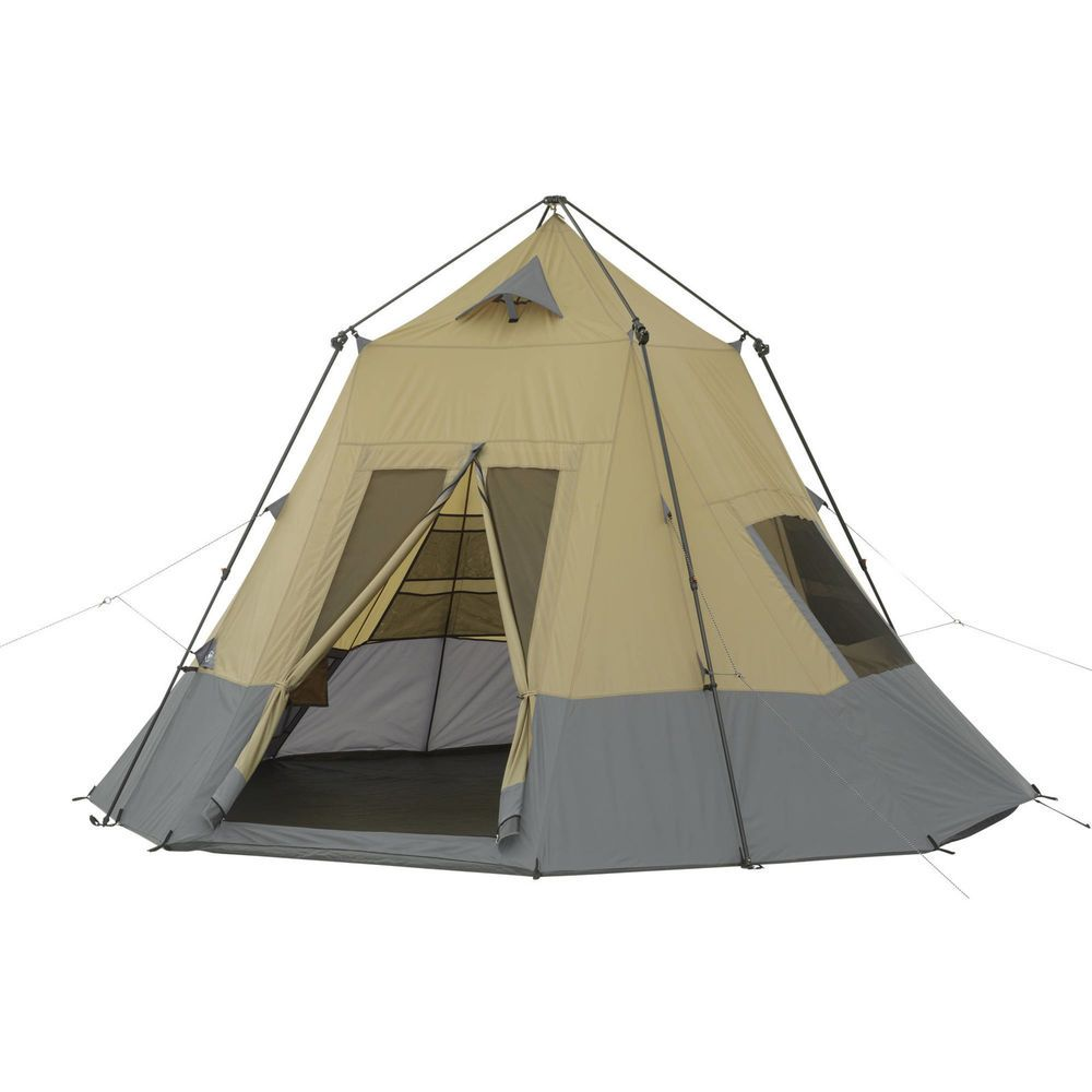 Ozark Trail 12 X 12 Instant Tepee Tent Sleeps 7 Family Tent Camping Backpacking Tent Cabin Tent