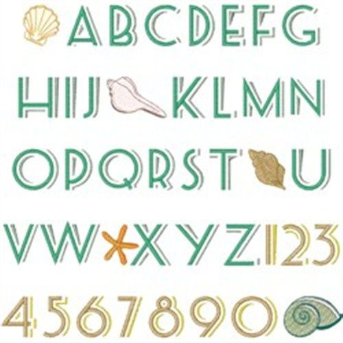 Sandy beach font embroidery font sandy beaches fonts for Beach house embroidery design
