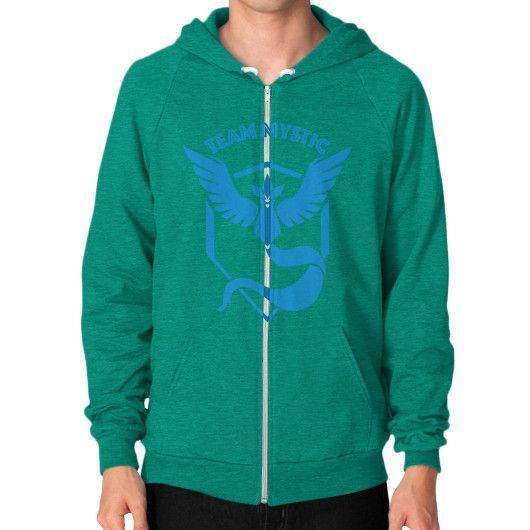 Team Mystic shirt pokemon go Zip Hoodie (on man) Shirt