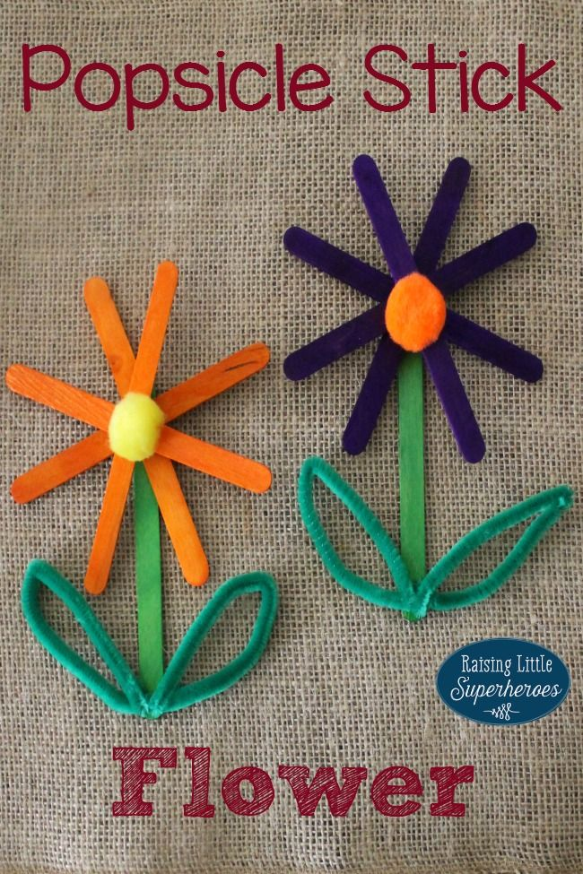 Popsicle Stick Flower Y Sacc Craft Stick Crafts Popsicle Stick