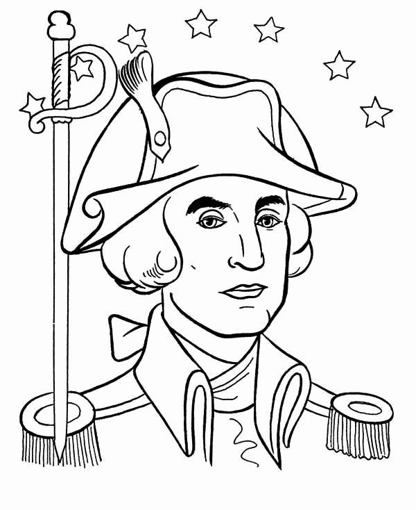 28 George Washington Coloring Page in 2020 | Captain ...