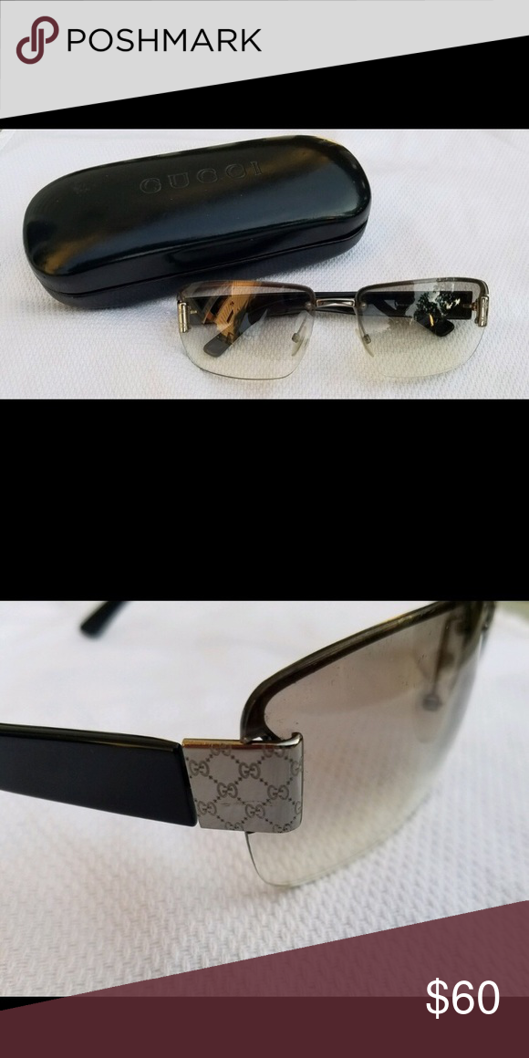 f10940e4c577 Gucci Rimless Glasses Good condition. Minor scratches. Comes with case and  is very stylish. Gucci Accessories Glasses