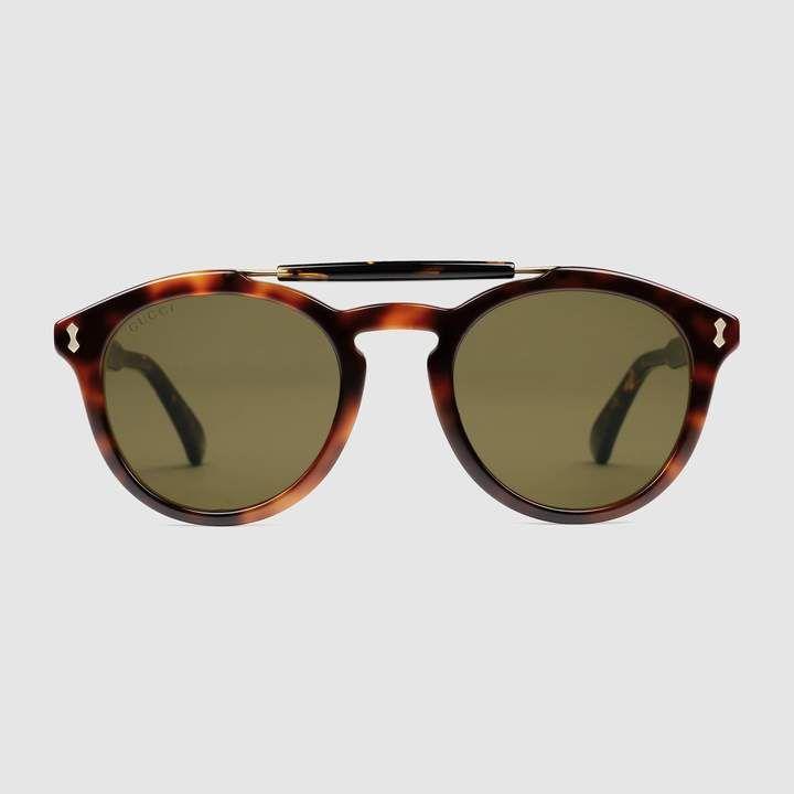 a48aa04b899a8 GUCCI Round-Frame Acetate Sunglasses.  gucci  men s sunglasses ...
