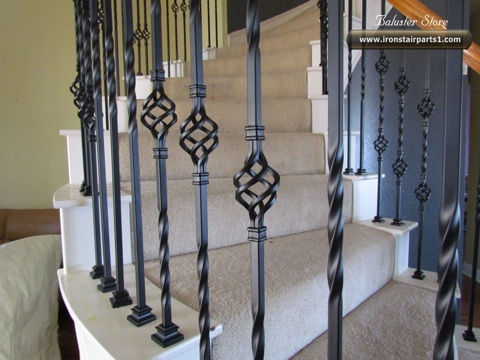 decorations accessories ornate iron stair balusters in spiral stair
