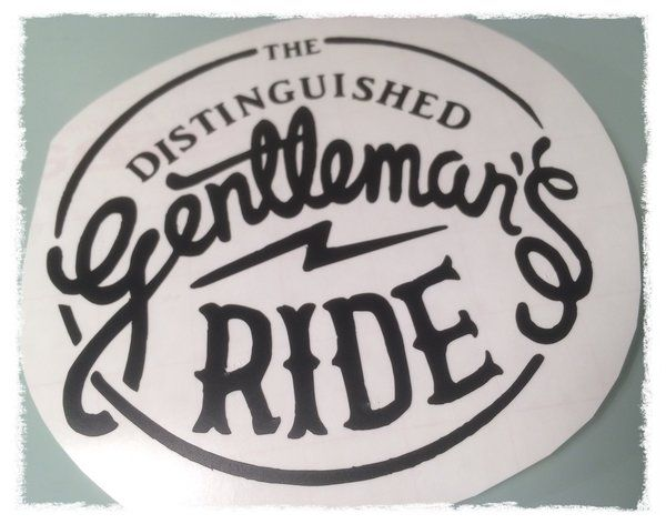 The distinguished gentlemans ride scooter motorbike decal sticker