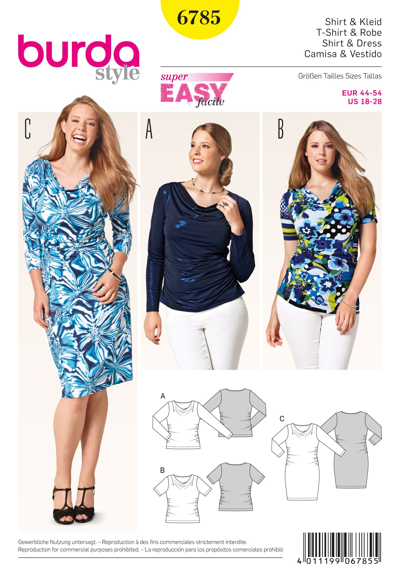 be30b0aae1c7 Burda 6785 Burda Style Plus to size 60 (34) | clothing projects and ...