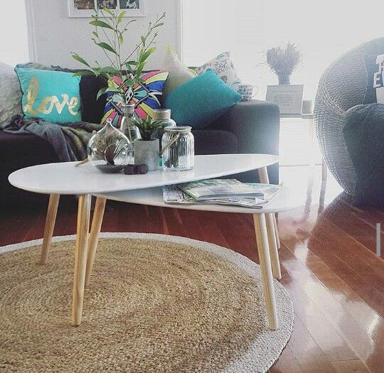 Cushion Coffee Tables And Rug