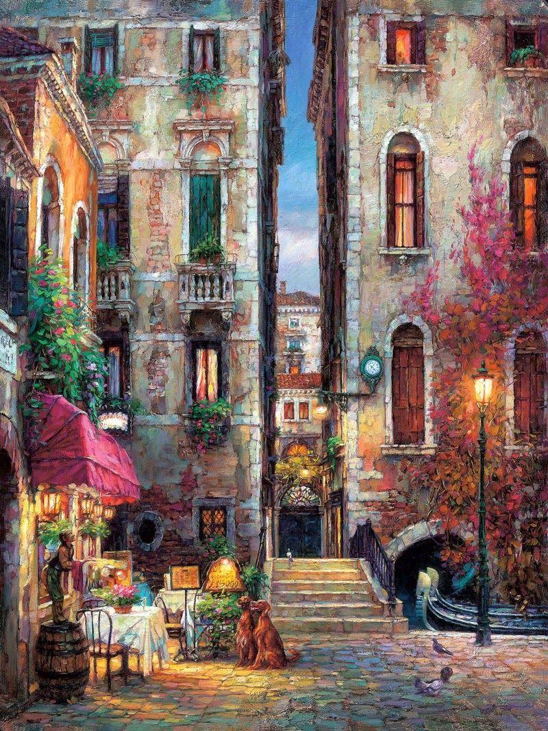 Mediterrane Gemälde cao yong 1962 cityscapes rund ums haus runde und häuschen
