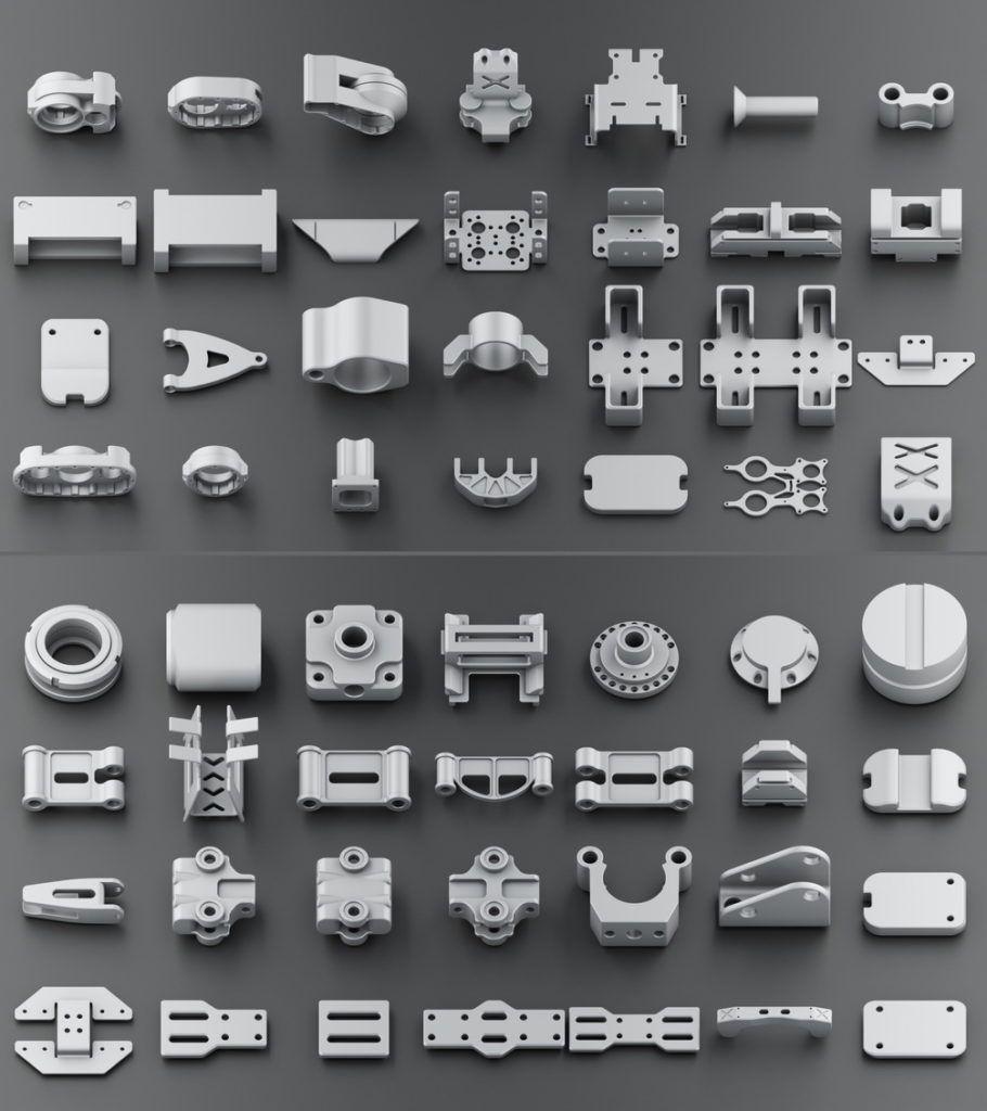 Download 300 free kitbash 3D Model part Vol 2 - 3 | kitbash