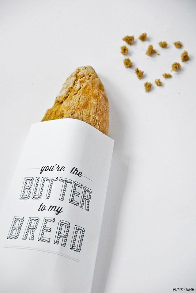 Bread Paper Bags / 3 designs / Free Printables.