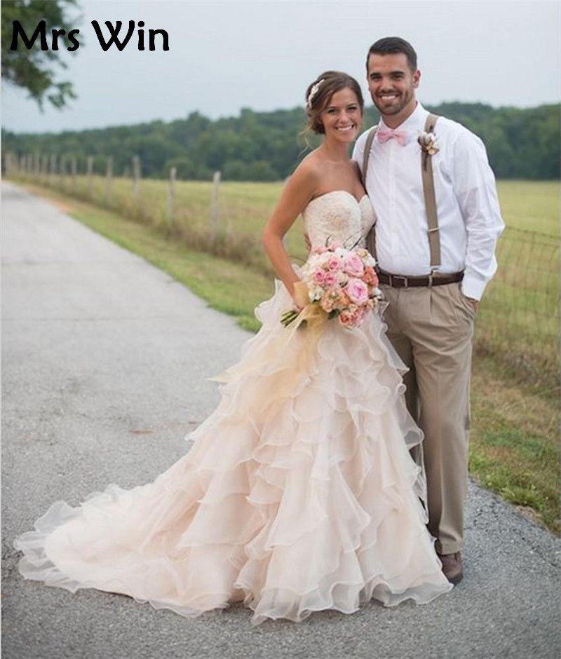 Free Shipping  Buy Best vestido de noiva organza 2017 Wedding Dress ... d30762ba52b2