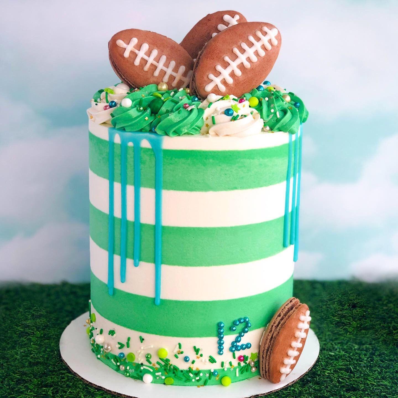 Football birthday cake in 2020 football birthday cake
