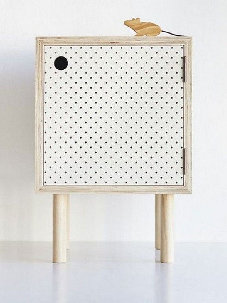 Retro Style Container Bedside Table: 20+ Top Retro Bedside Table Design Ideas For Your Classic