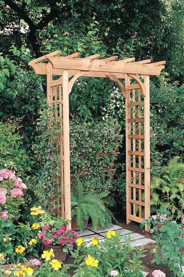 12 Easy Diy Garden Arbor Plans You Can Build Yourself To Complete Your Gardens Garden Arbors Design No 12942 Garden Structures Pergola Garden Wood Arbor