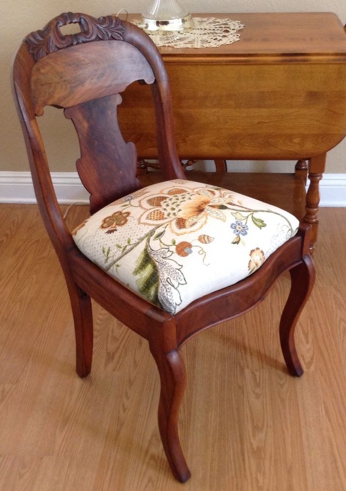 Furniture Accent Chairs Vintage Small Walnut Wood Chair In Home