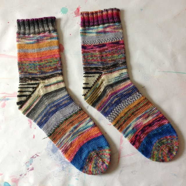 Scrappy Sock Happiness (...I make scrappy socks out of my leftover ...
