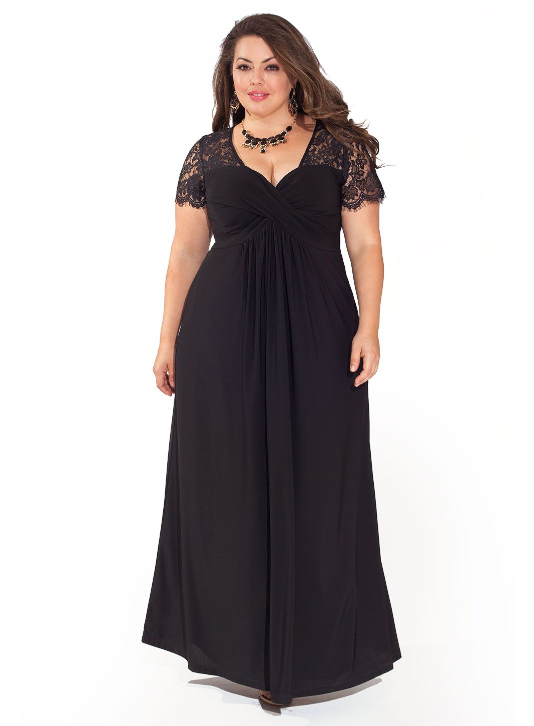 Vintage style 1940s plus size dresses 1940s gowns and black 1940s style cocktail dress monica gown in black and in plus sizes 23800 at ombrellifo Gallery