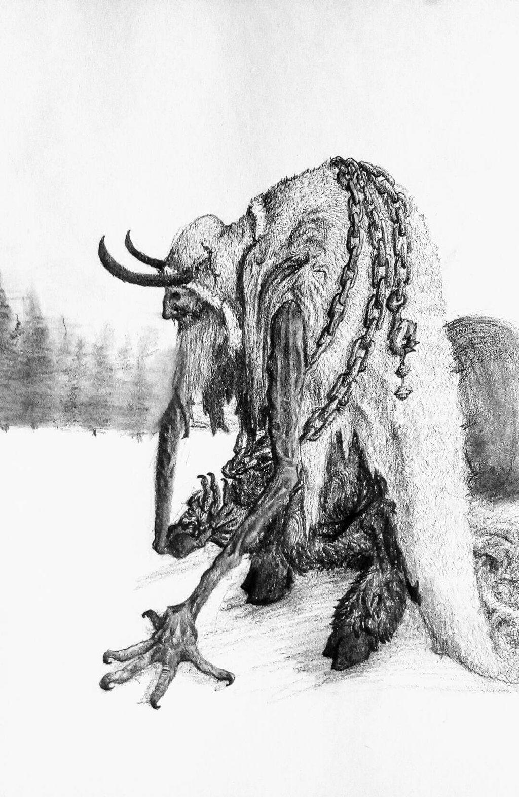 Krampus by JackChase2712 demon devil horns Christmas chains monster ...