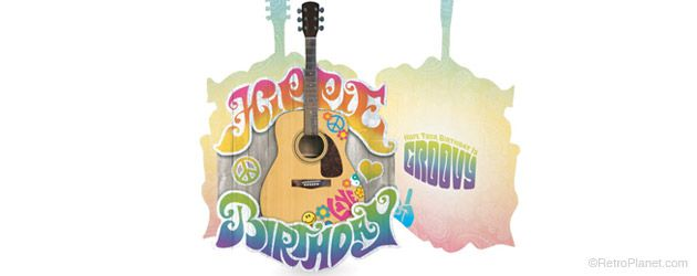 image of Hippie Birthday Greeting Card