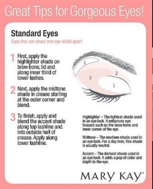 Simple Eye Shadow Application For Standard Eyes Choose Colors On