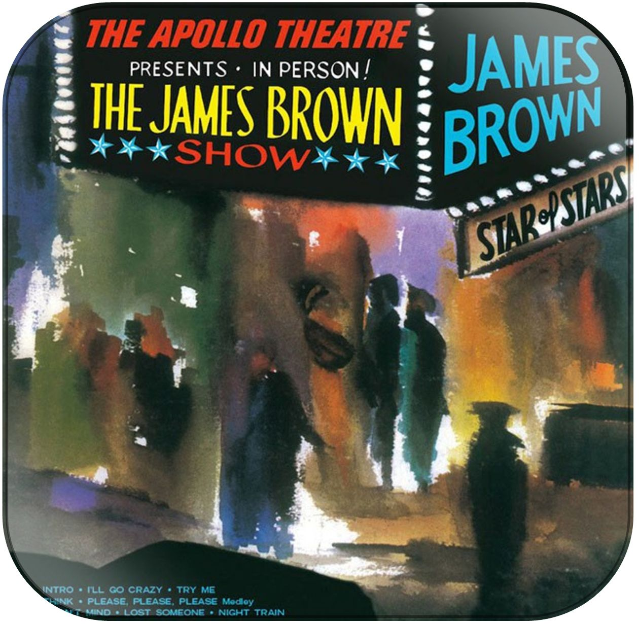 James Brown Live At The Apollo Album Cover Sticker Live At The