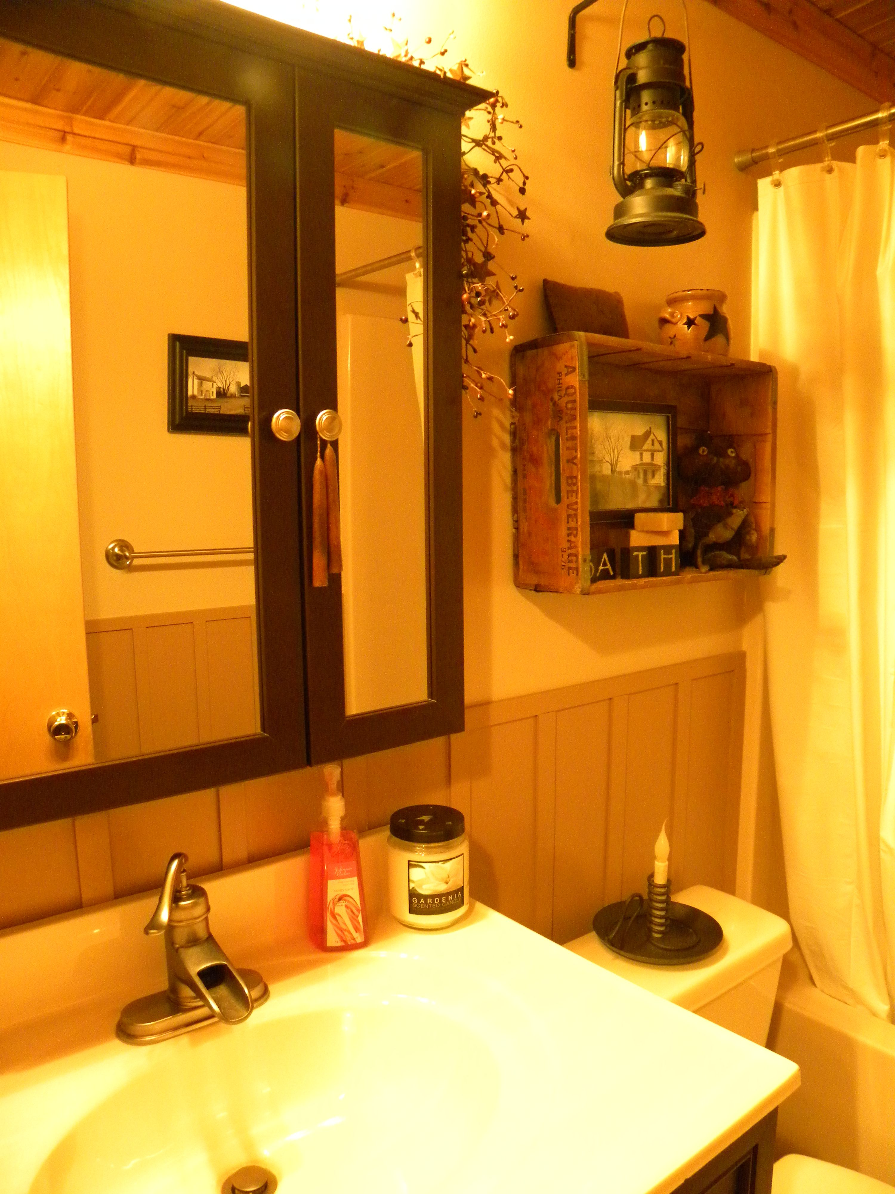 My barn themed bathroom. | My Antiques and Primitives ...