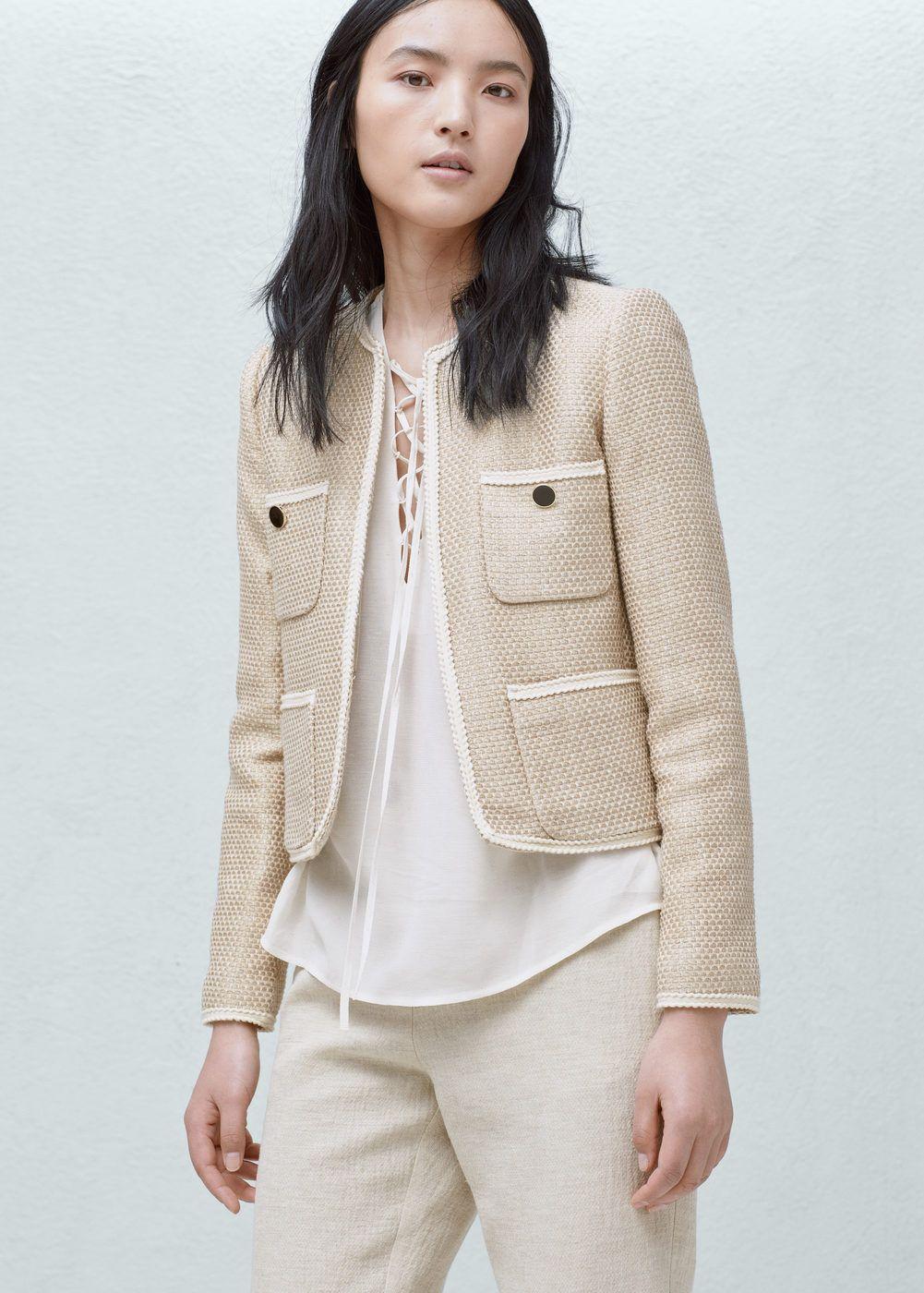 Pocket cotton jacket - Jackets for Woman  9e48a83cc357